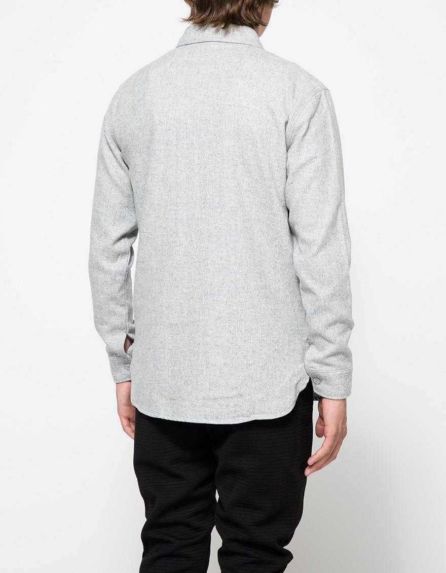 Han Kjobenhavn Army Shirt In Gray For Men Lyst