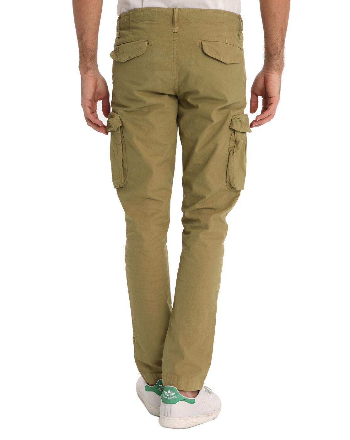 jack jones mike beige cargo pants in natural for men lyst. Black Bedroom Furniture Sets. Home Design Ideas