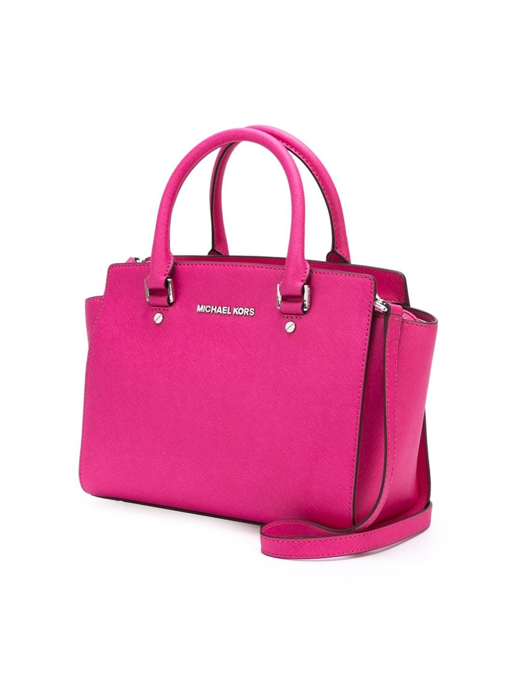 michael michael kors medium 39 selma 39 tote in pink pink purple. Black Bedroom Furniture Sets. Home Design Ideas