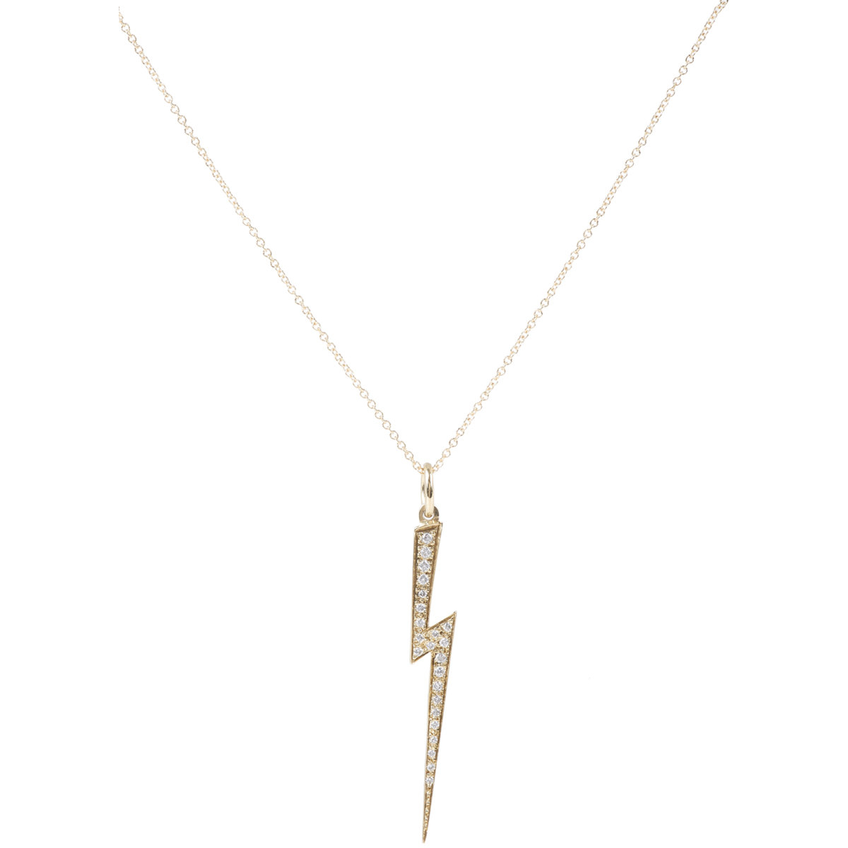 Ileana Makri diamond palm pendant necklace - Metallic EXZ2fq3LtC