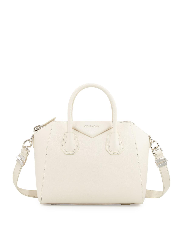 6758acd1a8a Givenchy Antigona Small Sugar Satchel Bag in White - Lyst