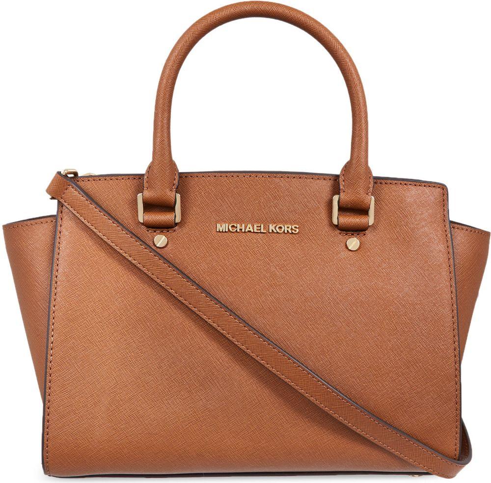 ed889470b7ce2e Michael kors selma saffiano leather satchel / Tory burch stock symbol