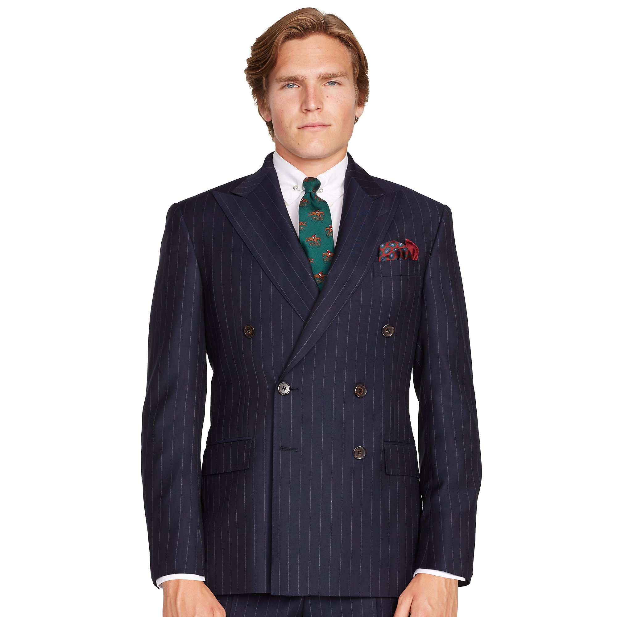Polo ralph lauren Bedford Double-breasted Suit in Blue for Men | Lyst