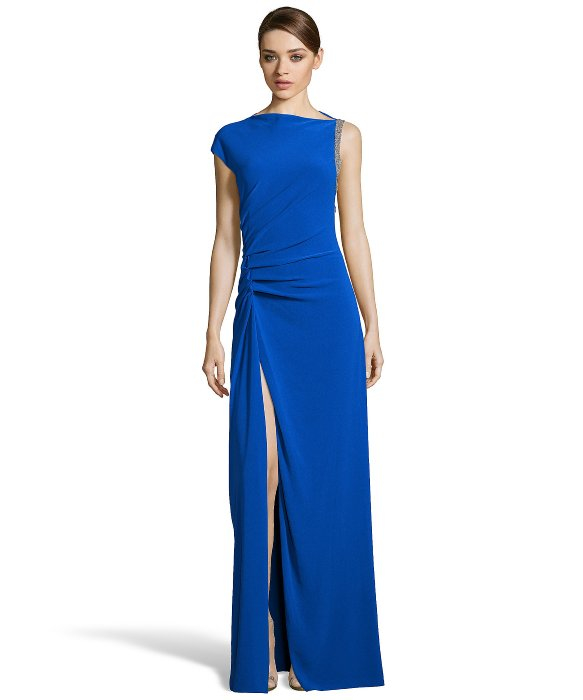 Lyst - Halston Halston Evening Gowns in Blue