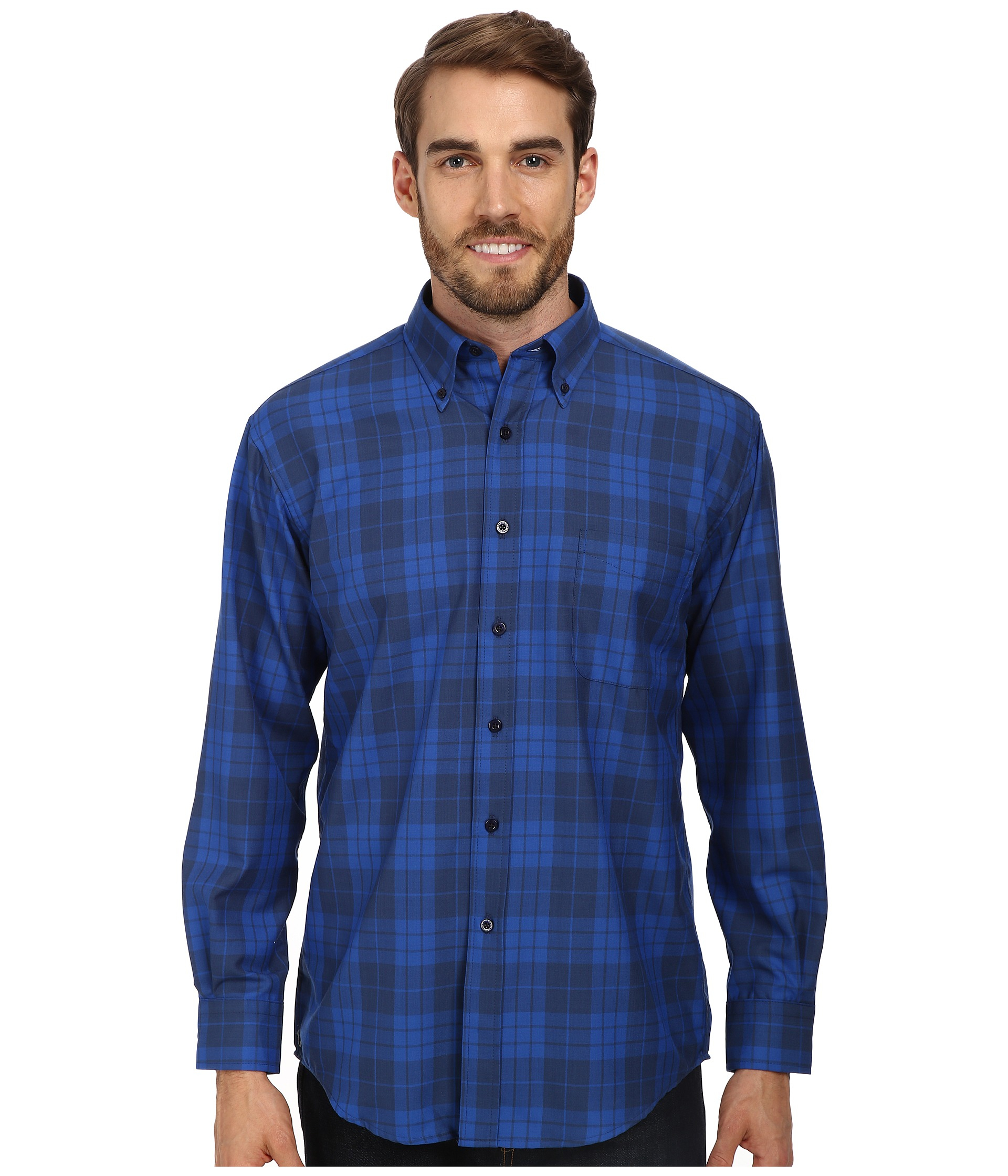 pendleton sir wool shirt in blue for lyst