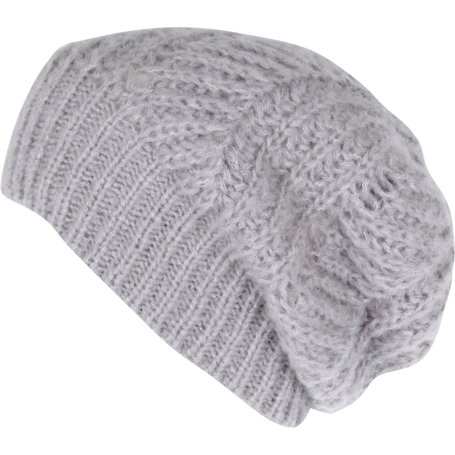 Knitting Pattern For Loose Beanie : River Island Grey Loose Knit Beanie Hat in Gray for Men ...