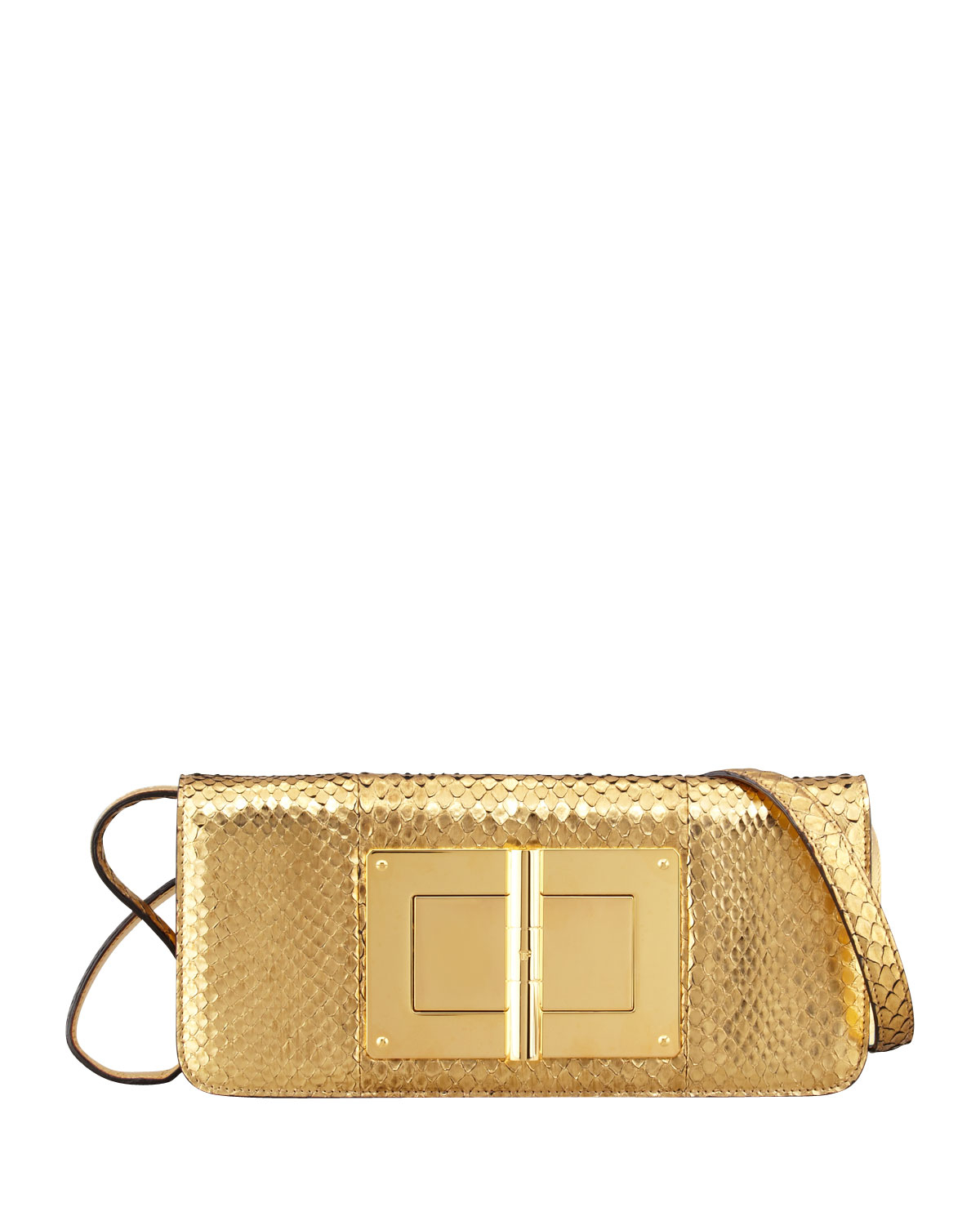 373a27c5a0e6 Lyst - Tom Ford Natalia East-West Python Shoulder Bag in Metallic