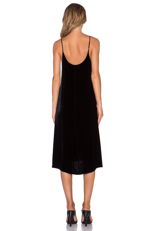 Lyst Atm Crushed Velvet Slip Dress In Black