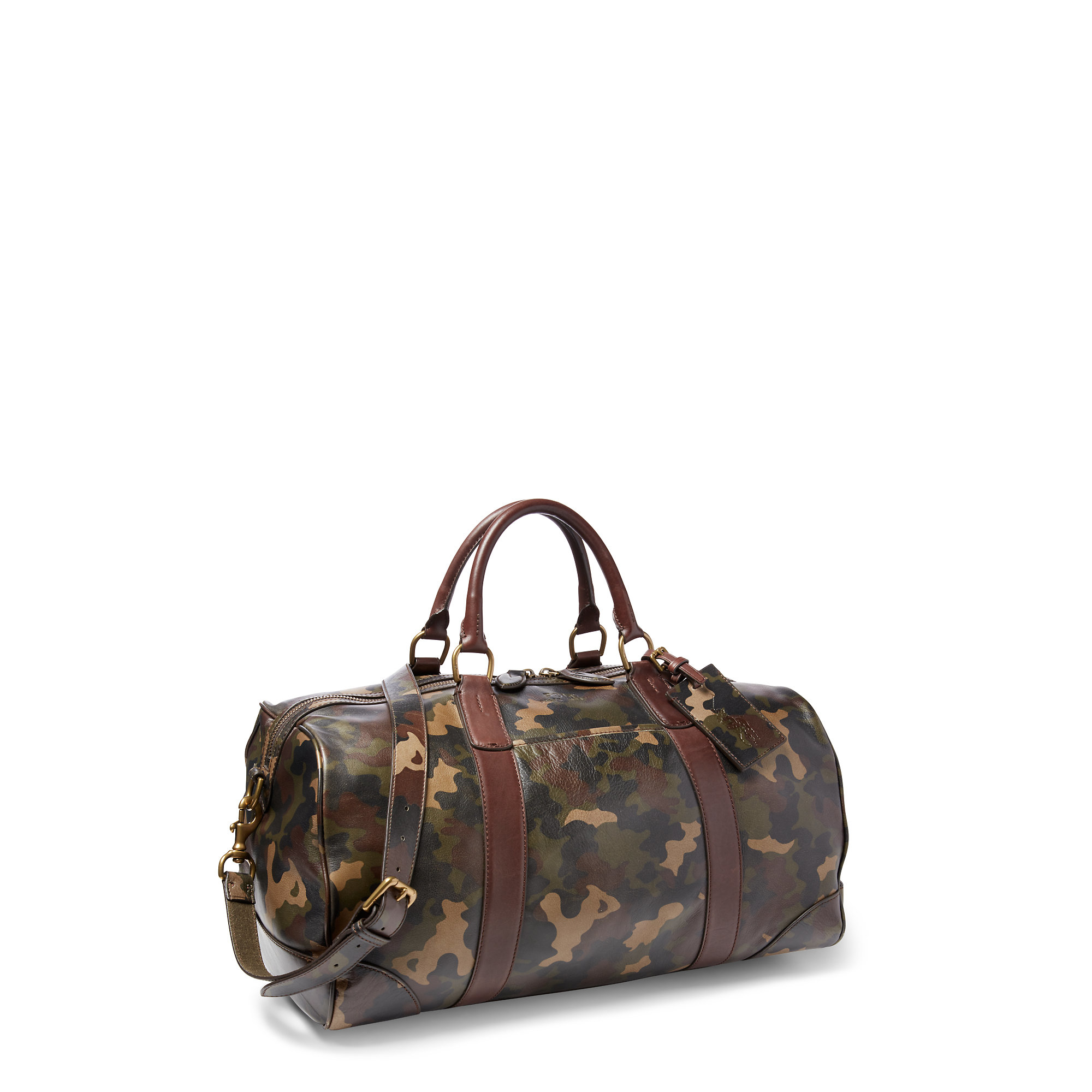 Lyst - Polo Ralph Lauren Camouflage Leather Duffel Bag in Gray for Men abb6c9c079437