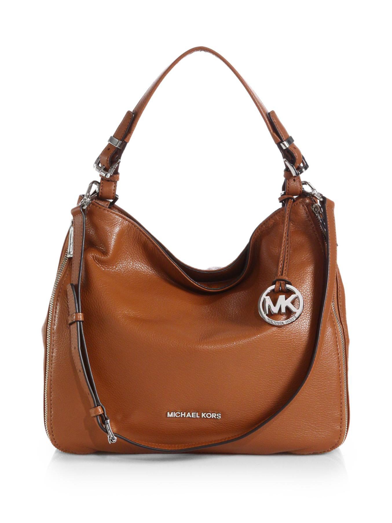 michael michael kors essex hobo bag in brown luggage lyst. Black Bedroom Furniture Sets. Home Design Ideas