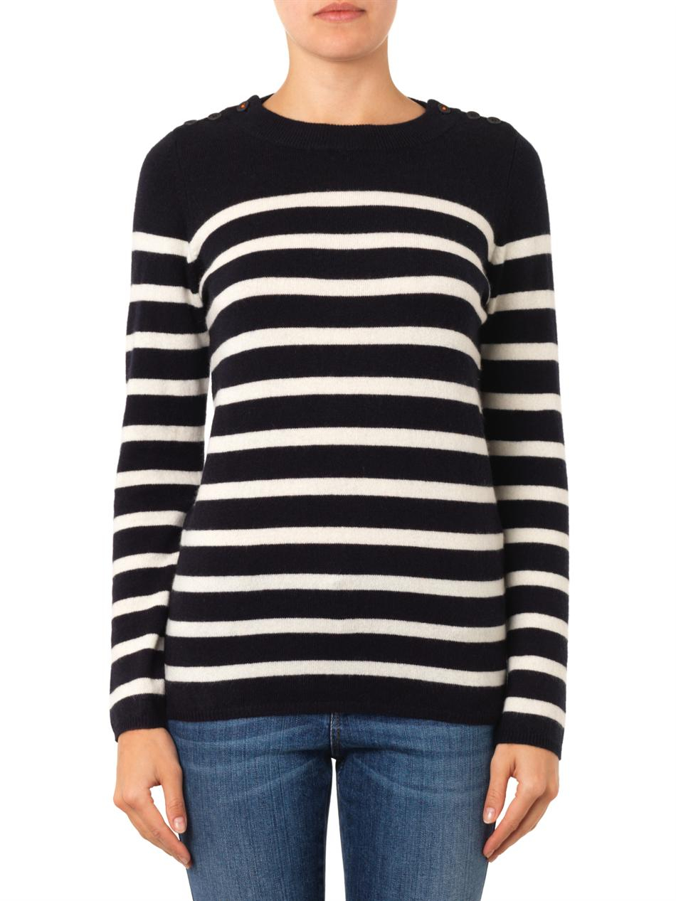Fashionable cashmere striped knitted sweater - Black Chinti and Parker Pay With Paypal Discount Low Shipping Looking For Online zc4rVaI