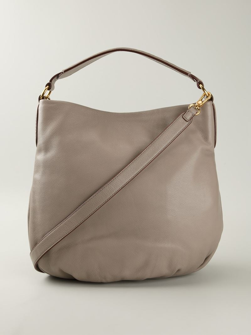 3ed7ee089b8c Lyst - Marc By Marc Jacobs  new Q Hillier  Hobo Bag in Natural
