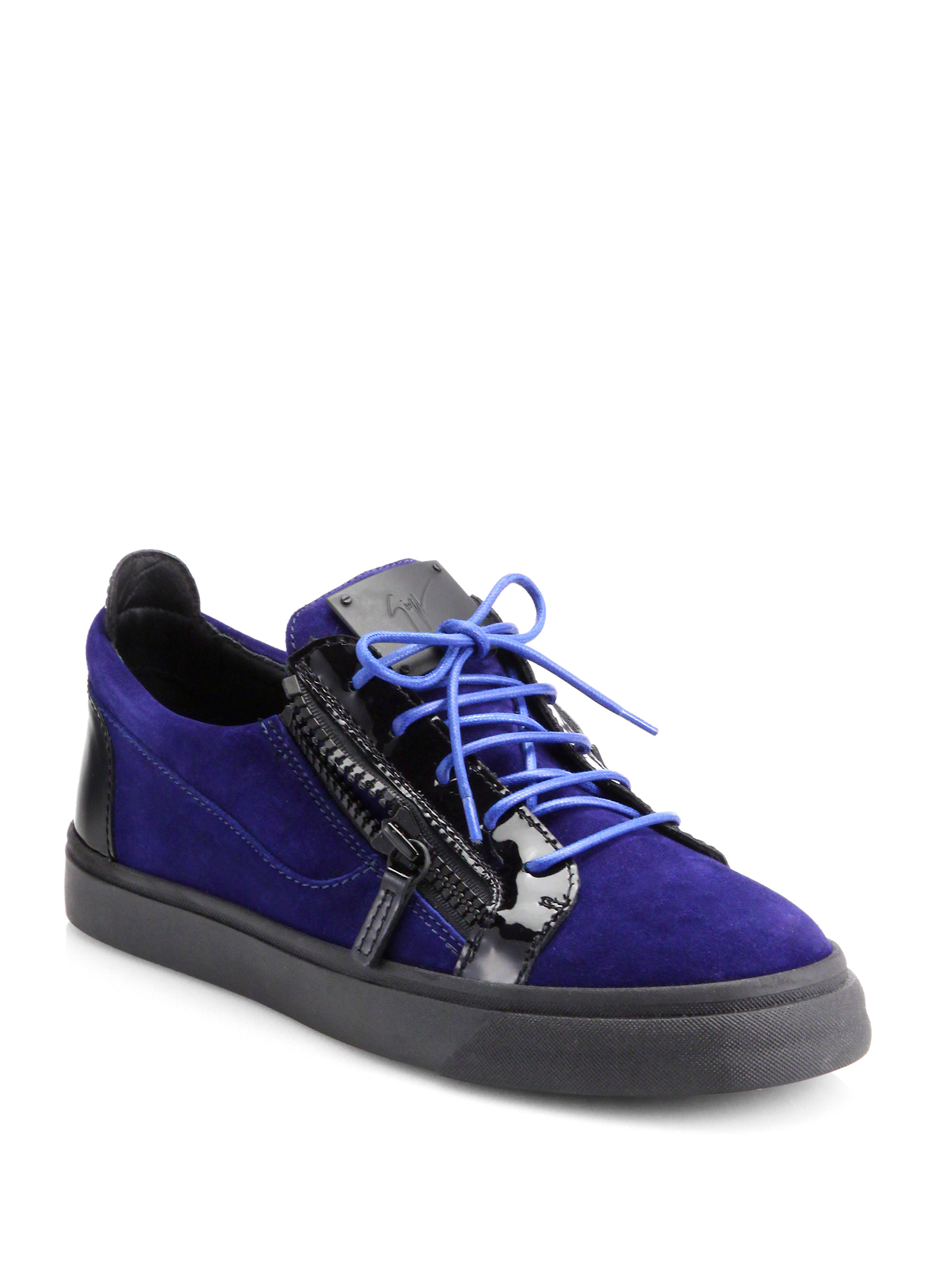 Coach Mens Blue Suede Shoes
