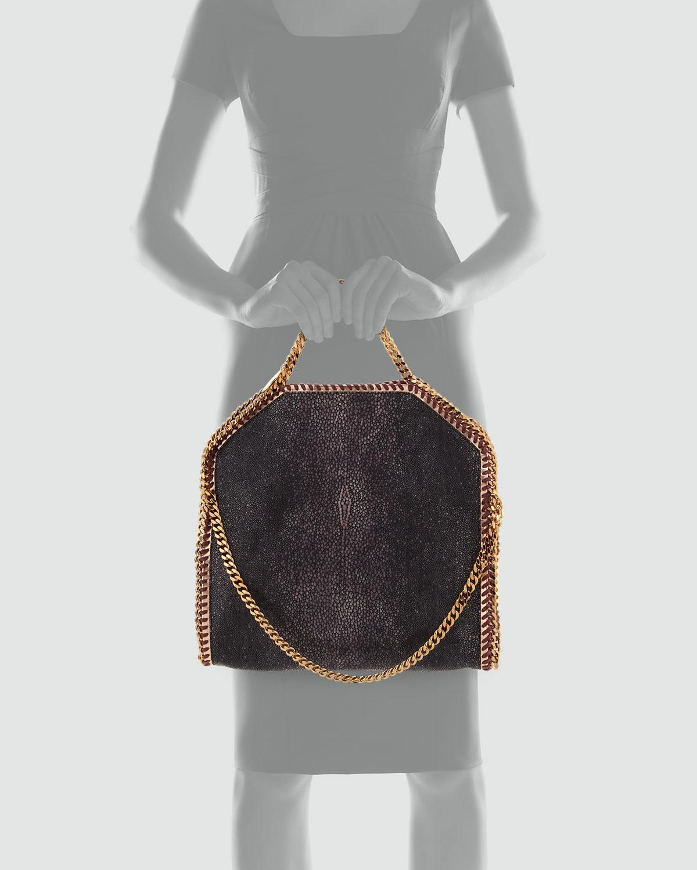 Lyst - Stella McCartney Falabella Shaggy Deer Foldover Tote Bag ... 50968e0f8967a