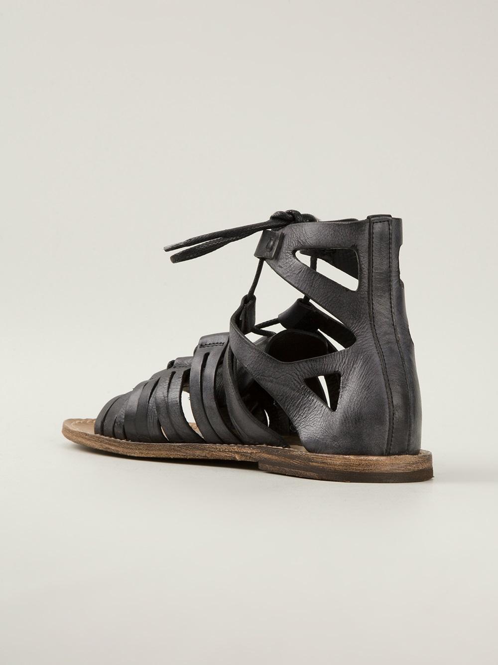 Dolce Amp Gabbana Gladiator Sandals In Black For Men Lyst