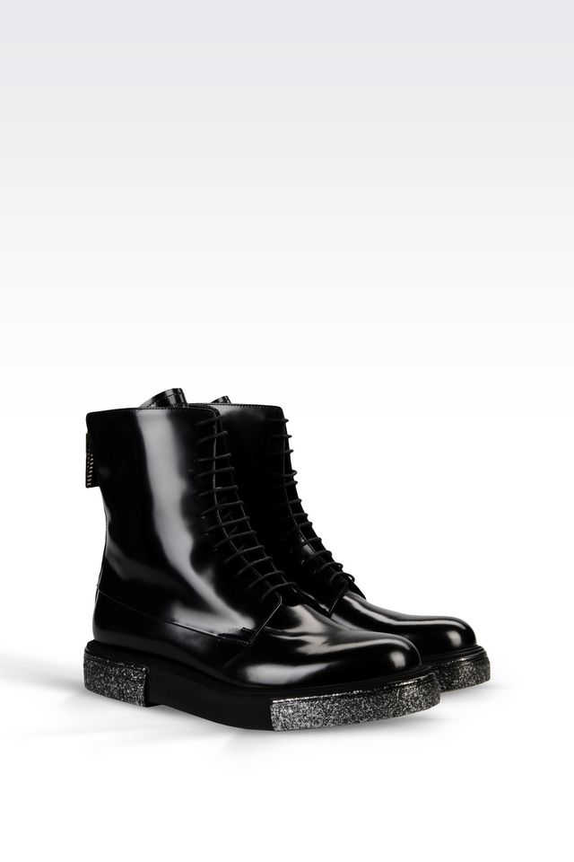 Lyst Emporio Armani Ankle Boots In Black For Men