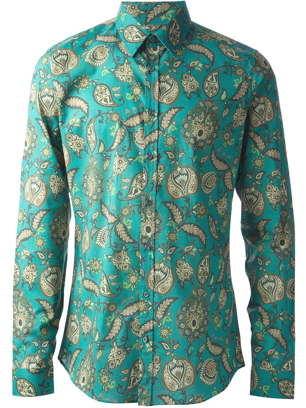 d19c4f86c148 Gucci Paisley Print Shirt in Green for Men - Lyst