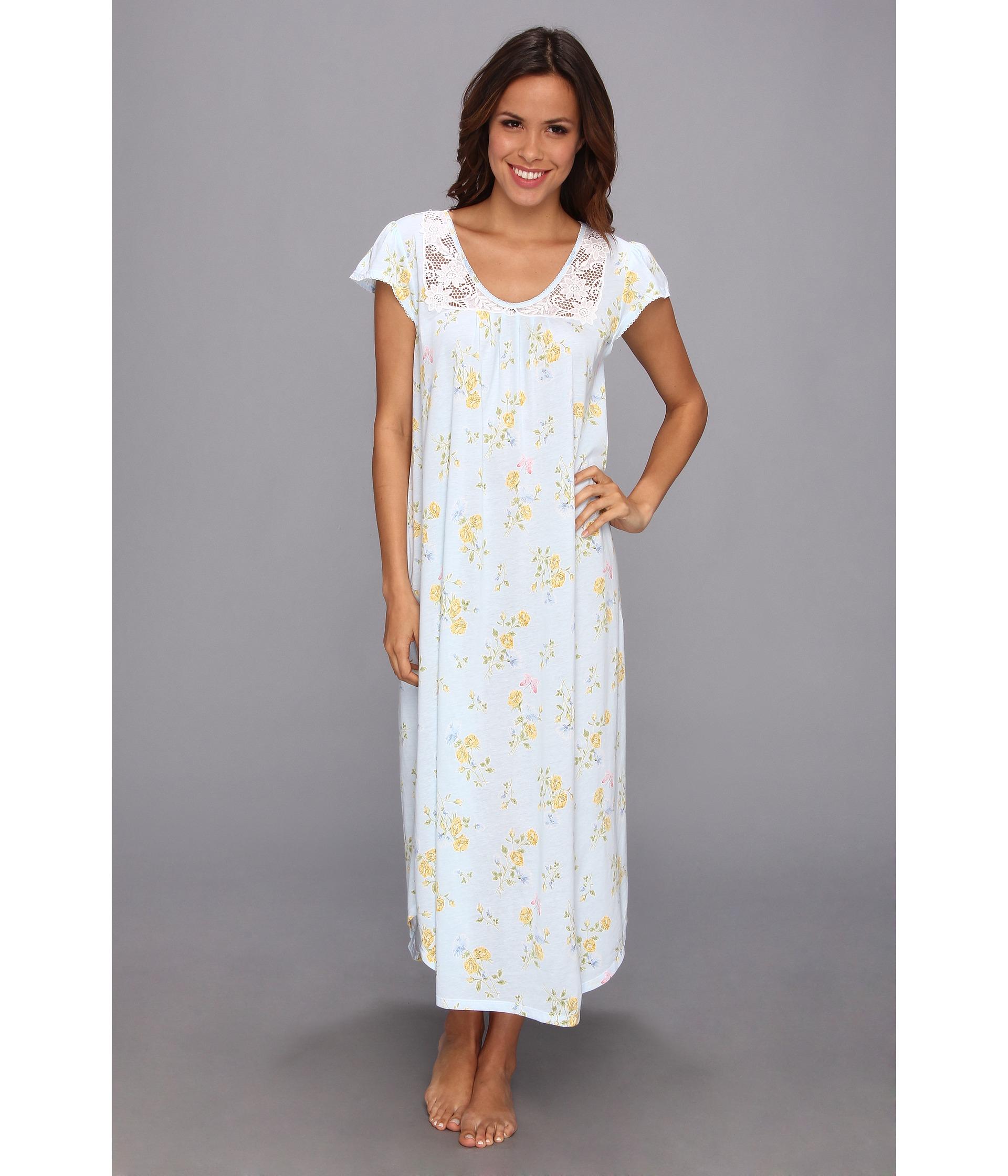 07f07c7bdc Lyst - Carole Hochman Garden Reverie Long Nightgown