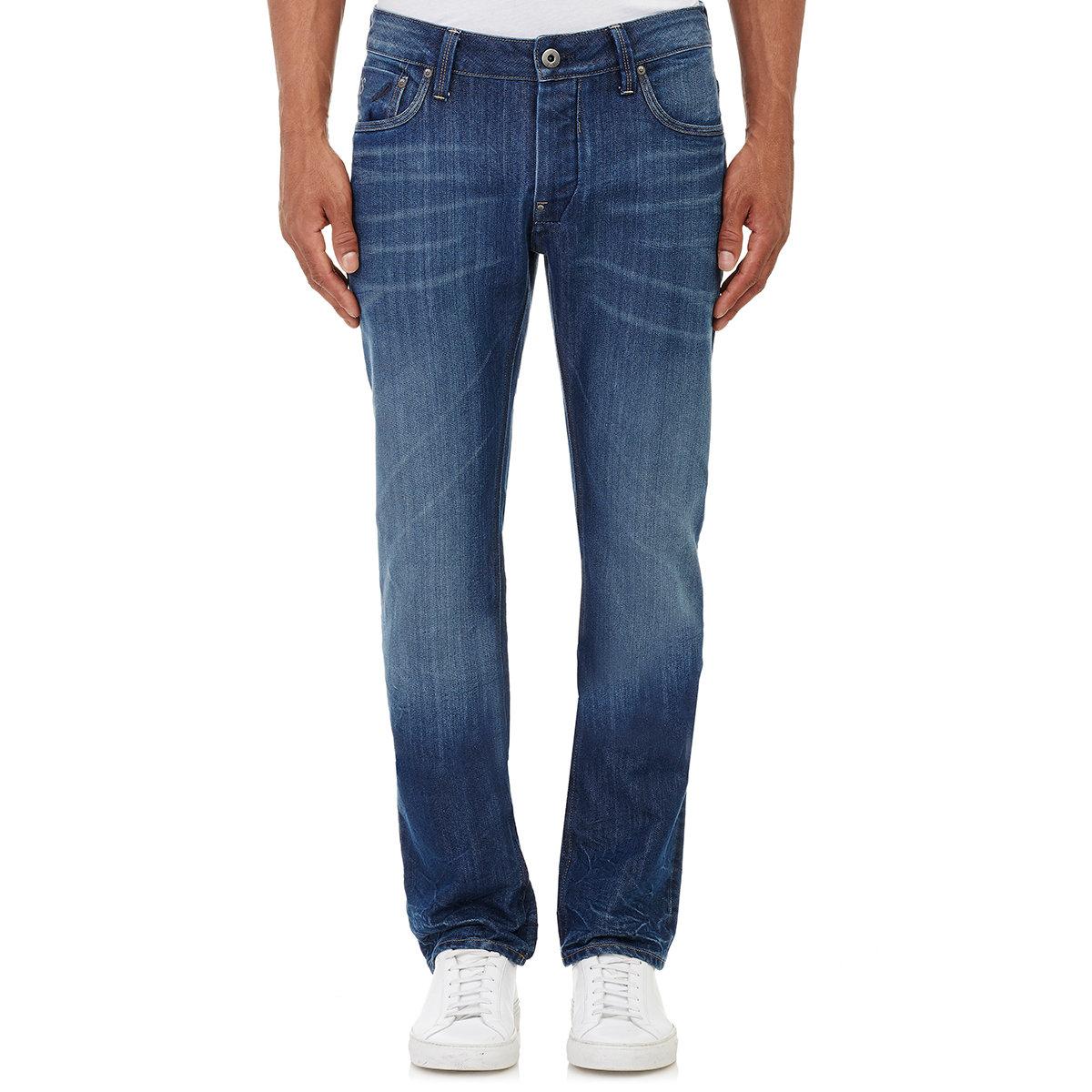 g star raw men 39 s attacc straight leg jeans in blue for men. Black Bedroom Furniture Sets. Home Design Ideas