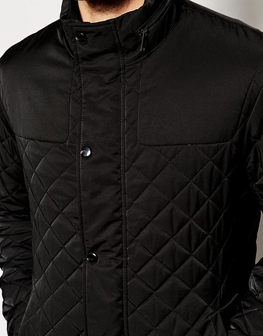 Lyst Esprit Quilted Jacket In Black For Men