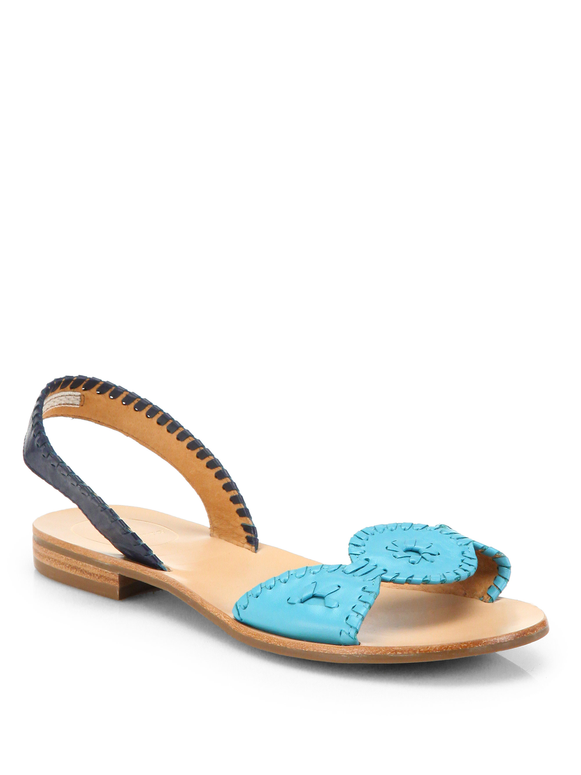 Lyst Jack Rogers Lilliana Leather Slingback Sandals In Blue