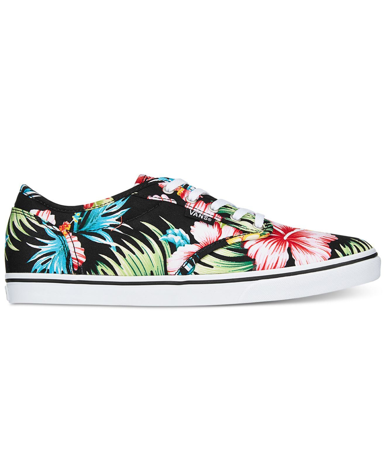26551b49c9d6 Lyst - Vans Women s Atwood Low Aloha Lace-up Sneakers in Black