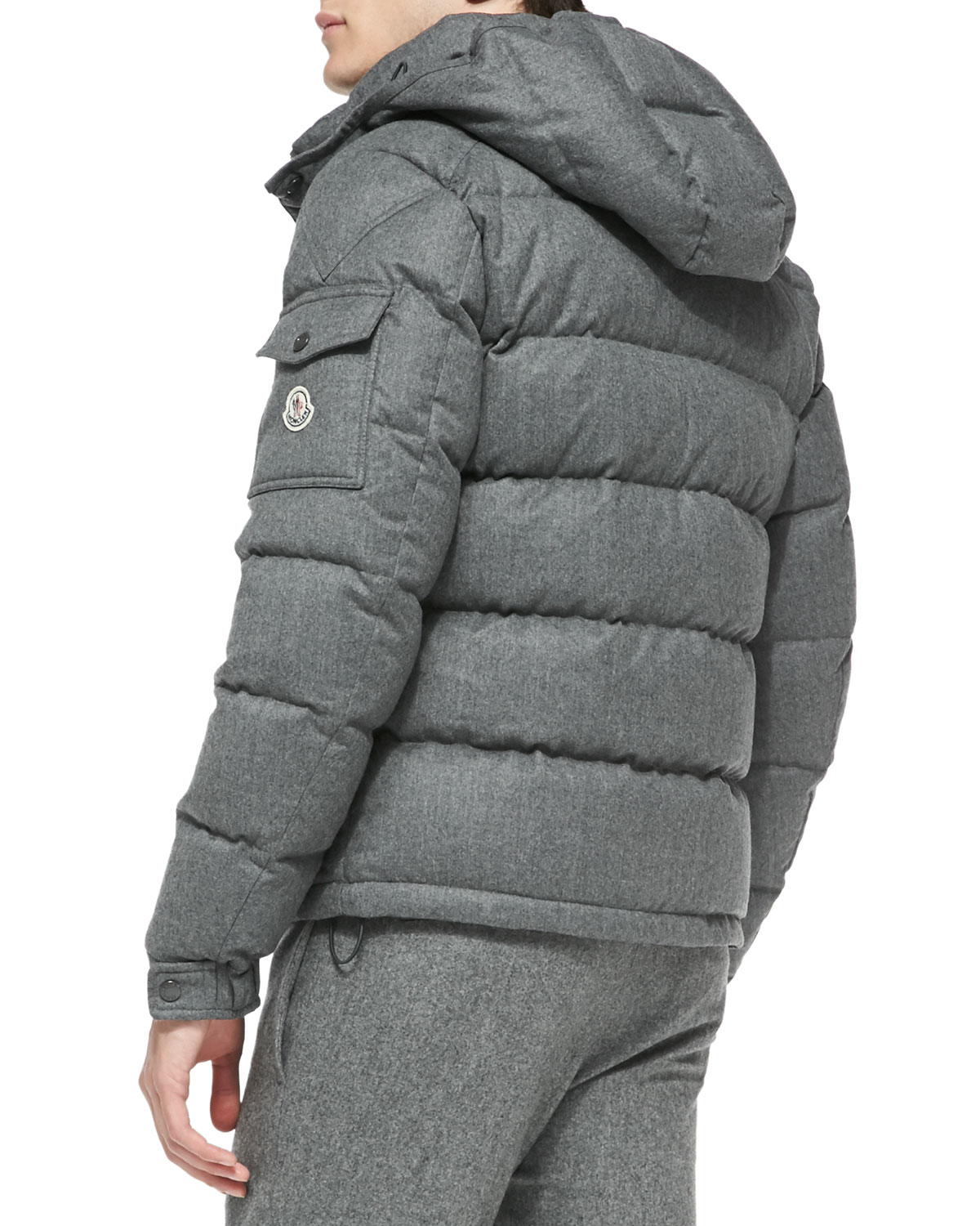 Lyst - Moncler Mont Genevre Quilted Wool Jacket in Gray for Men 2528297dd9b