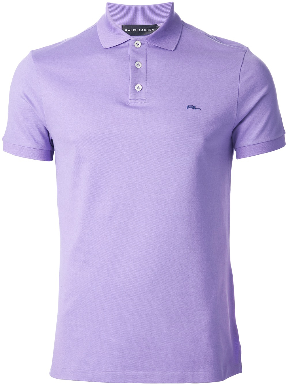 Ralph Lauren Black Label Logo Polo Shirt In Purple For Men