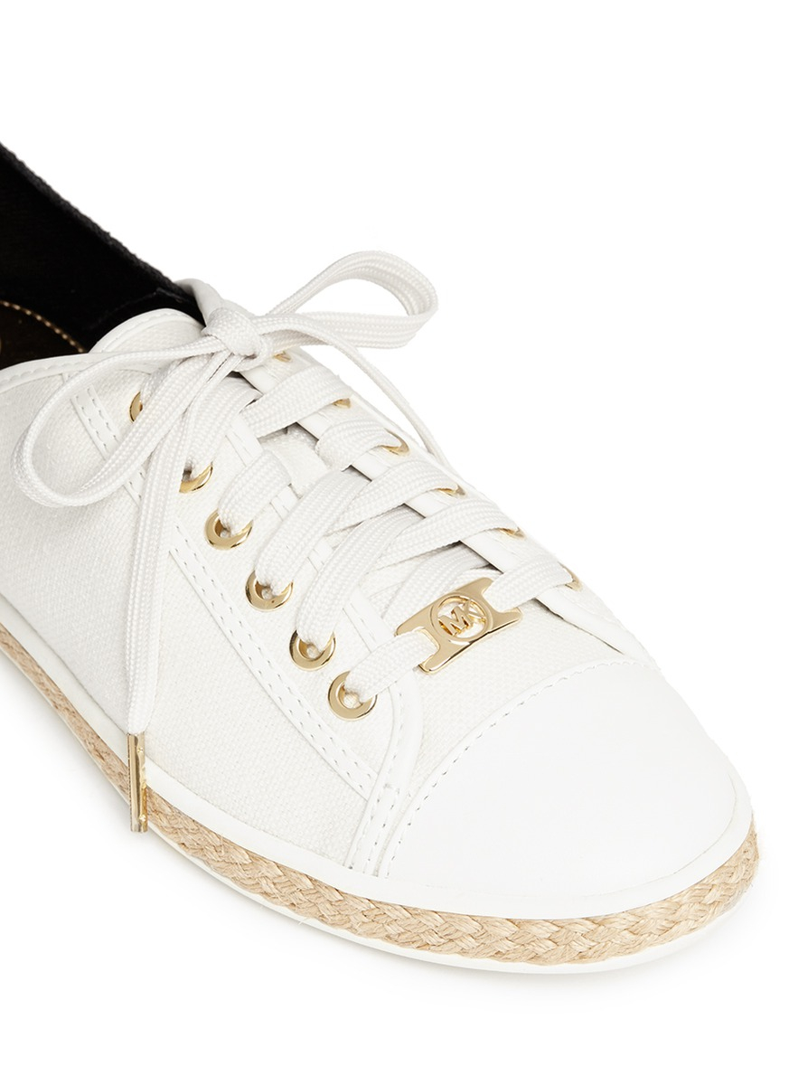 8e6439f25757 Michael Kors  kristy  Lace-up Sneakers in White - Lyst