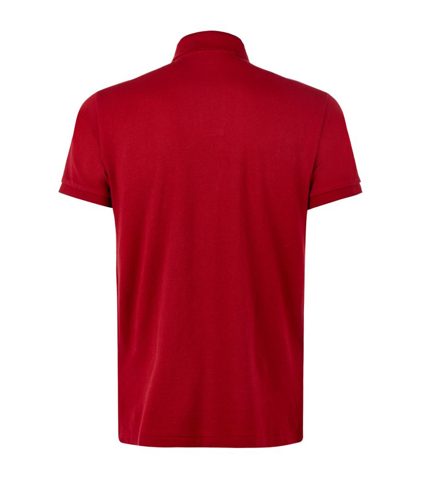 Lyst polo ralph lauren custom fit logo polo shirt in red for Personalised logo polo shirts
