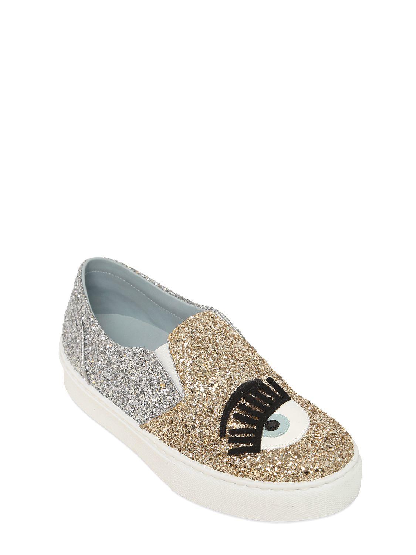 Plateforme Chaussures Ferragni Chiara De Paillettes Métalliques xPWBwq