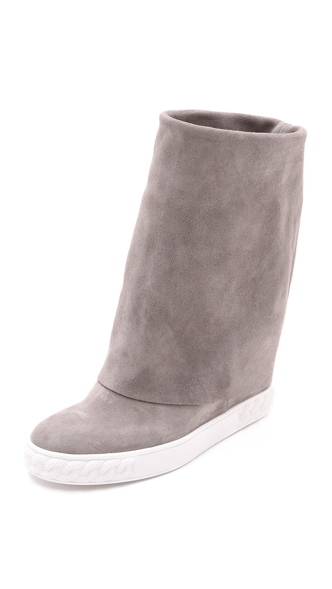 fold down wedge boots - Grey Casadei TmRz8sIyMd