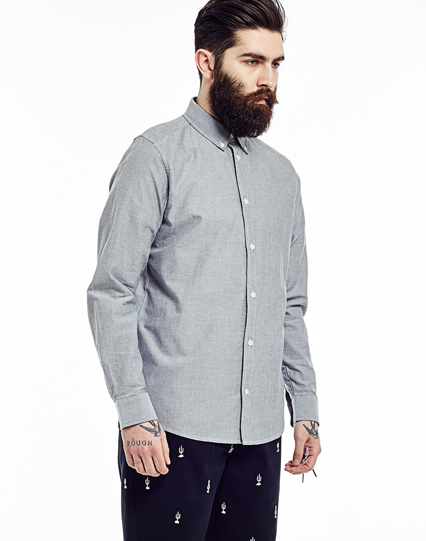 Carhartt Long Sleeve Button Down Shirt in Black for Men   Lyst