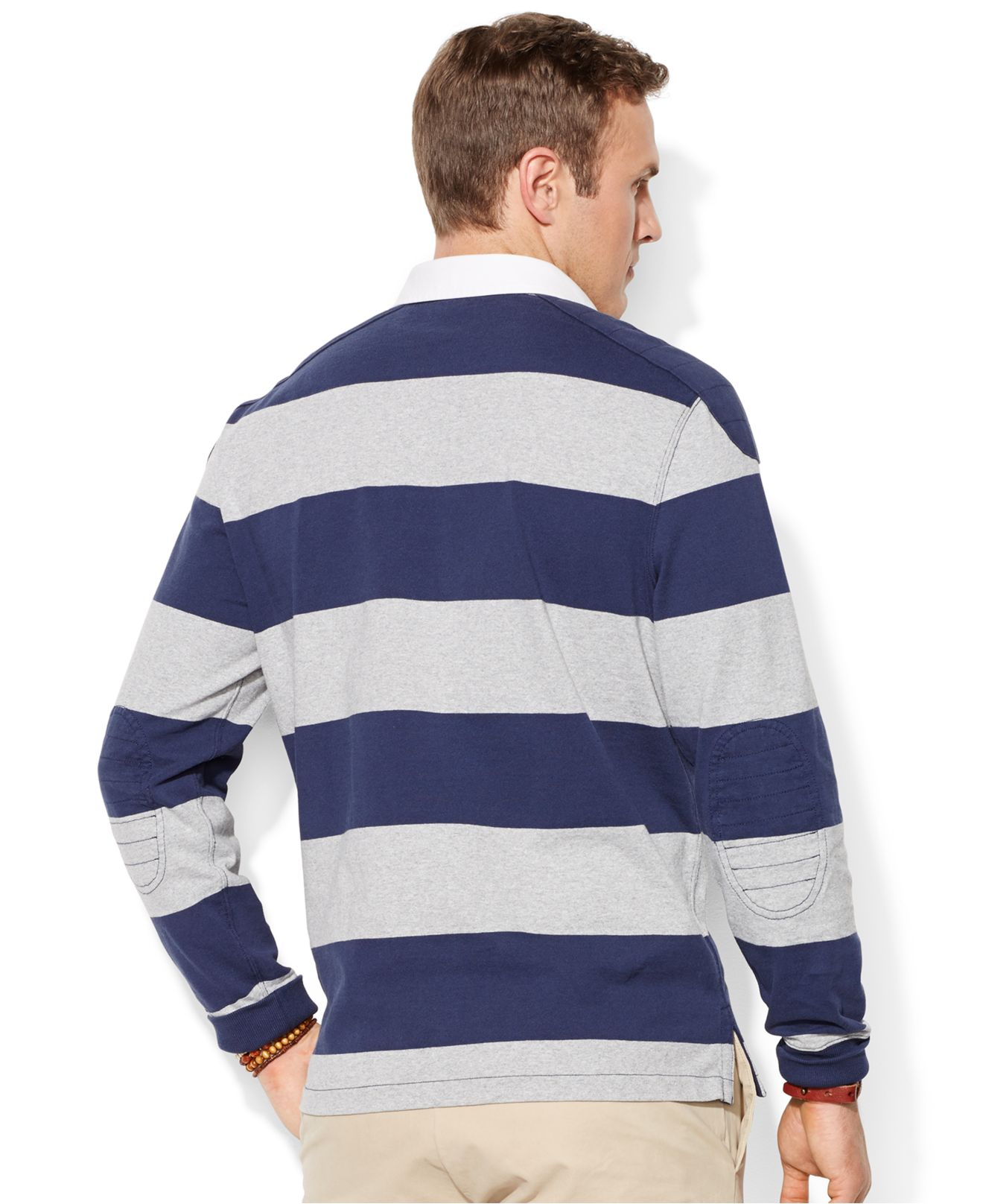 Lyst polo ralph lauren big and tall long sleeve stripe for Big and tall polo rugby shirts