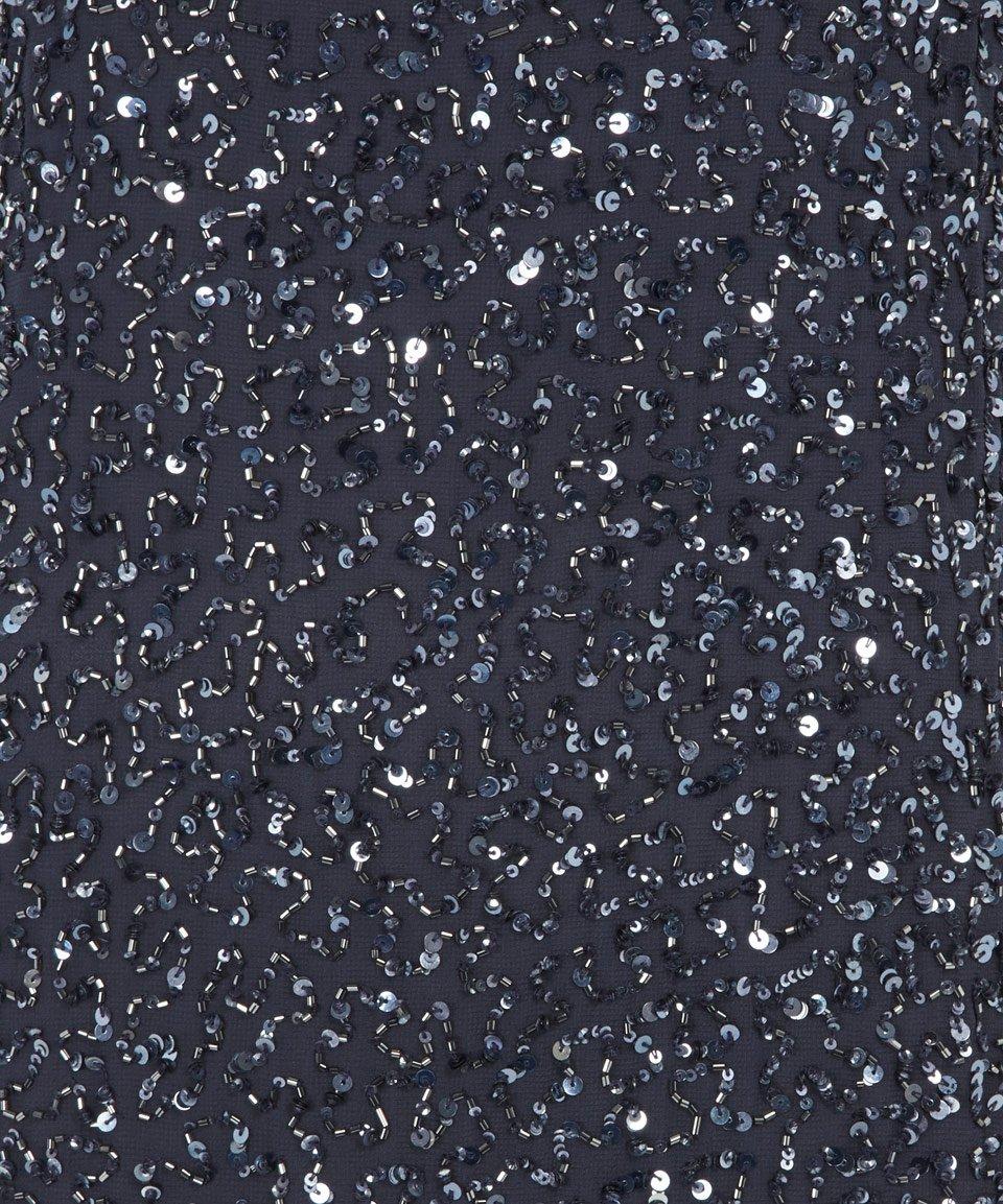 day birger et mikkelsen blue rain sequin chiffon column. Black Bedroom Furniture Sets. Home Design Ideas