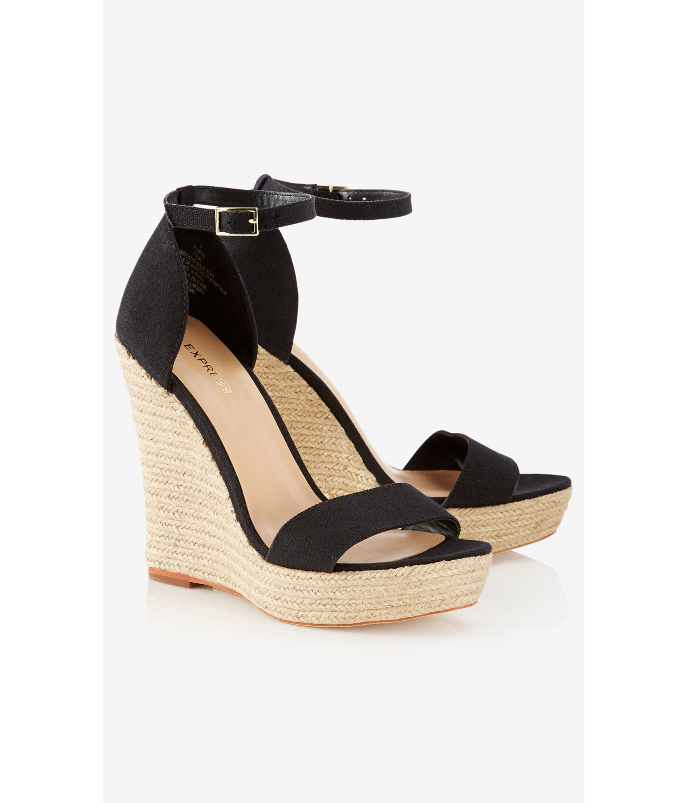 Express Espadrille Wedge Sandal In Black Lyst