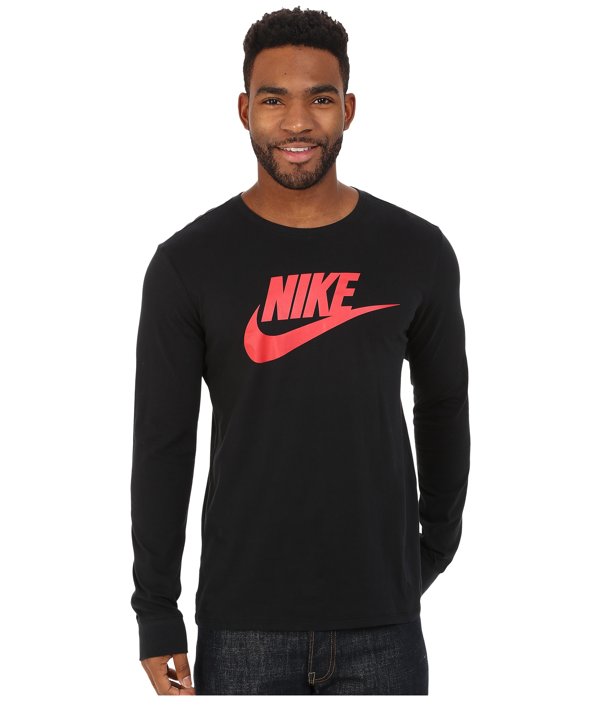 2623d576 Nike Futura Icon Long Sleeve Tee in Black for Men - Lyst