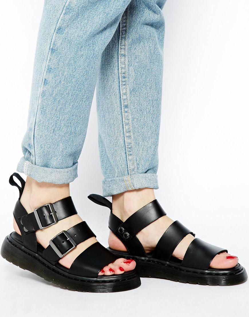 0e4e80ea2c75 Lyst - Dr. Martens Shore Reinvented Gryphon Strap Sandals in Black