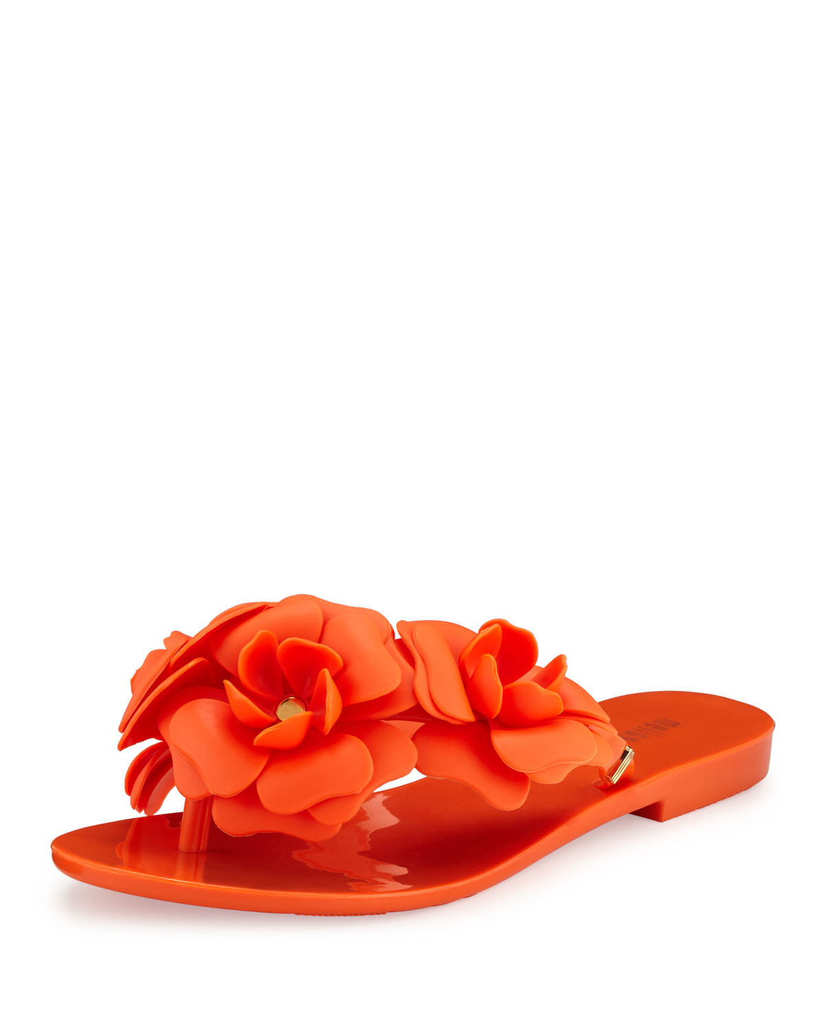 6c290f3259a2 Lyst - Melissa Harmonic Garden Flower-embellished Thong Sandal in Red