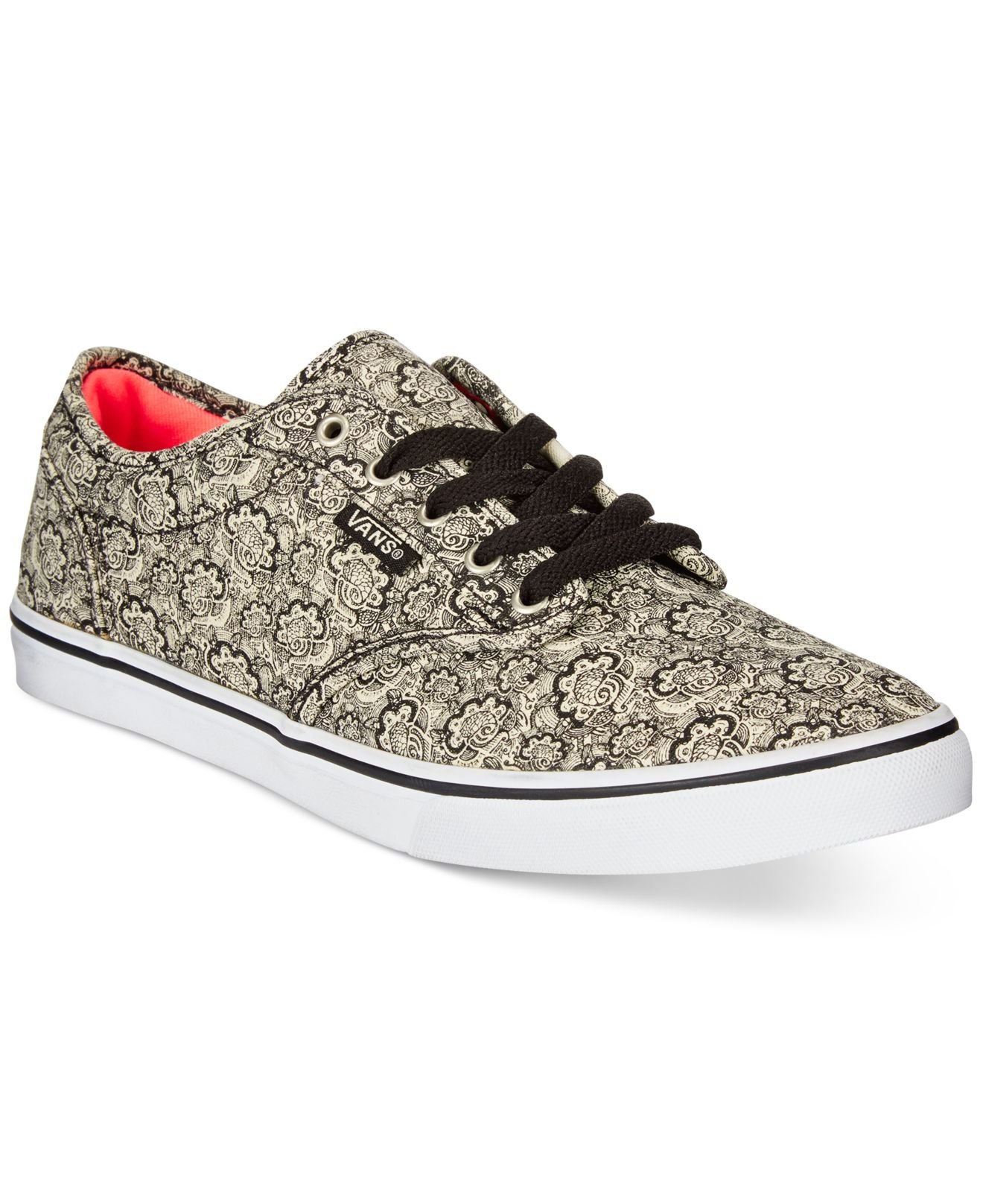 4e3cd4fd081 Lyst - Vans Women s Atwood Low Henna Sneakers in Black