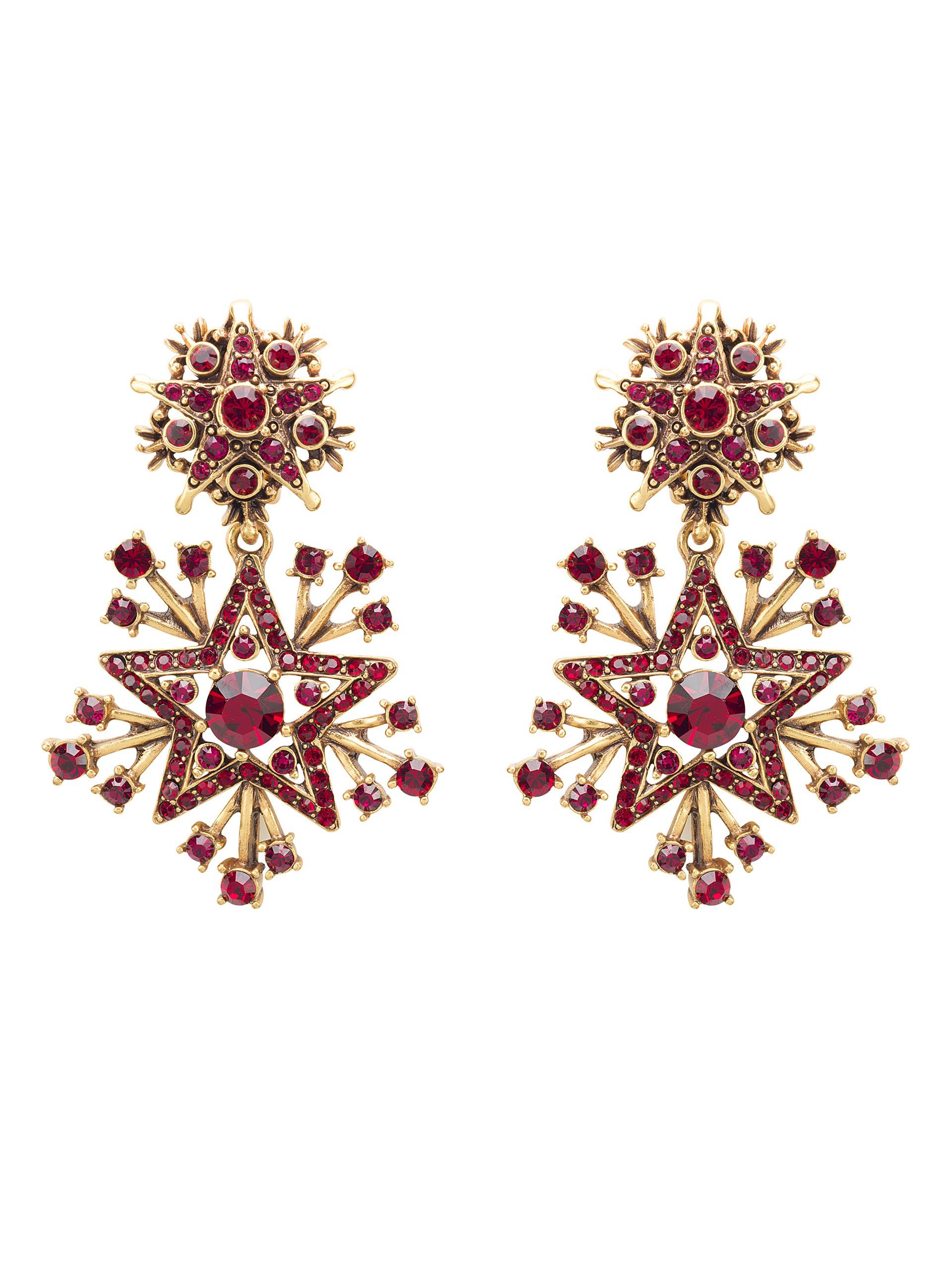 Oscar De La Renta Crystal starburst earrings e3EpLJ