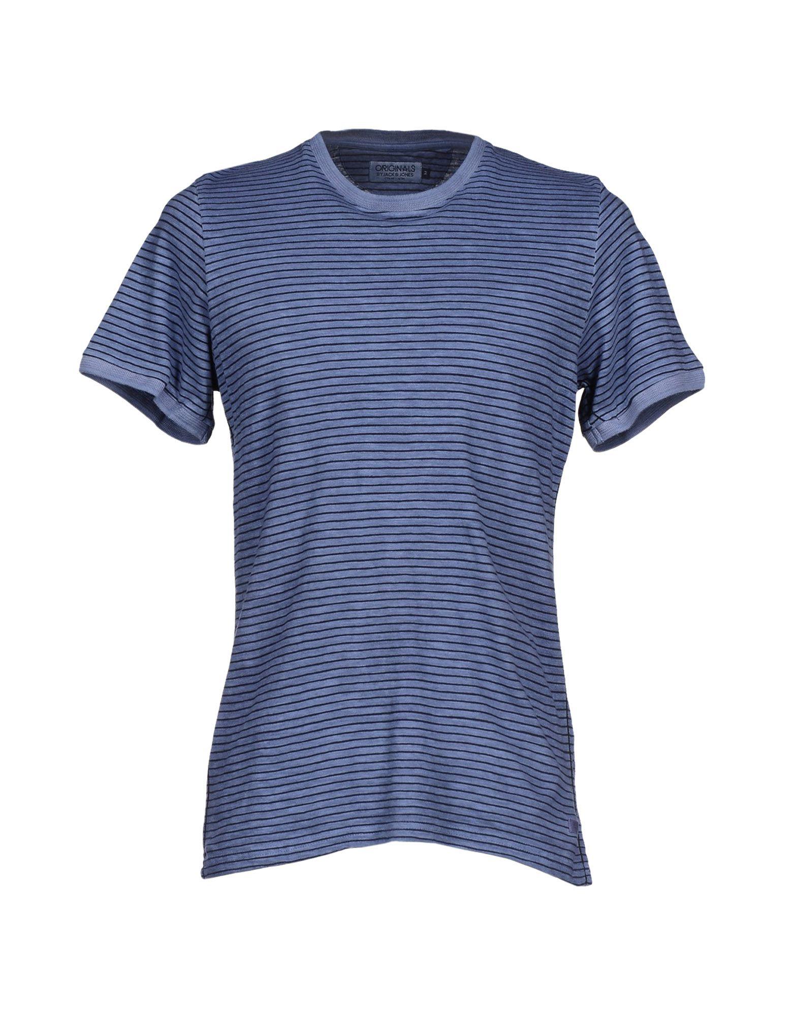 originals by jack jones t shirt in gray for men lyst. Black Bedroom Furniture Sets. Home Design Ideas