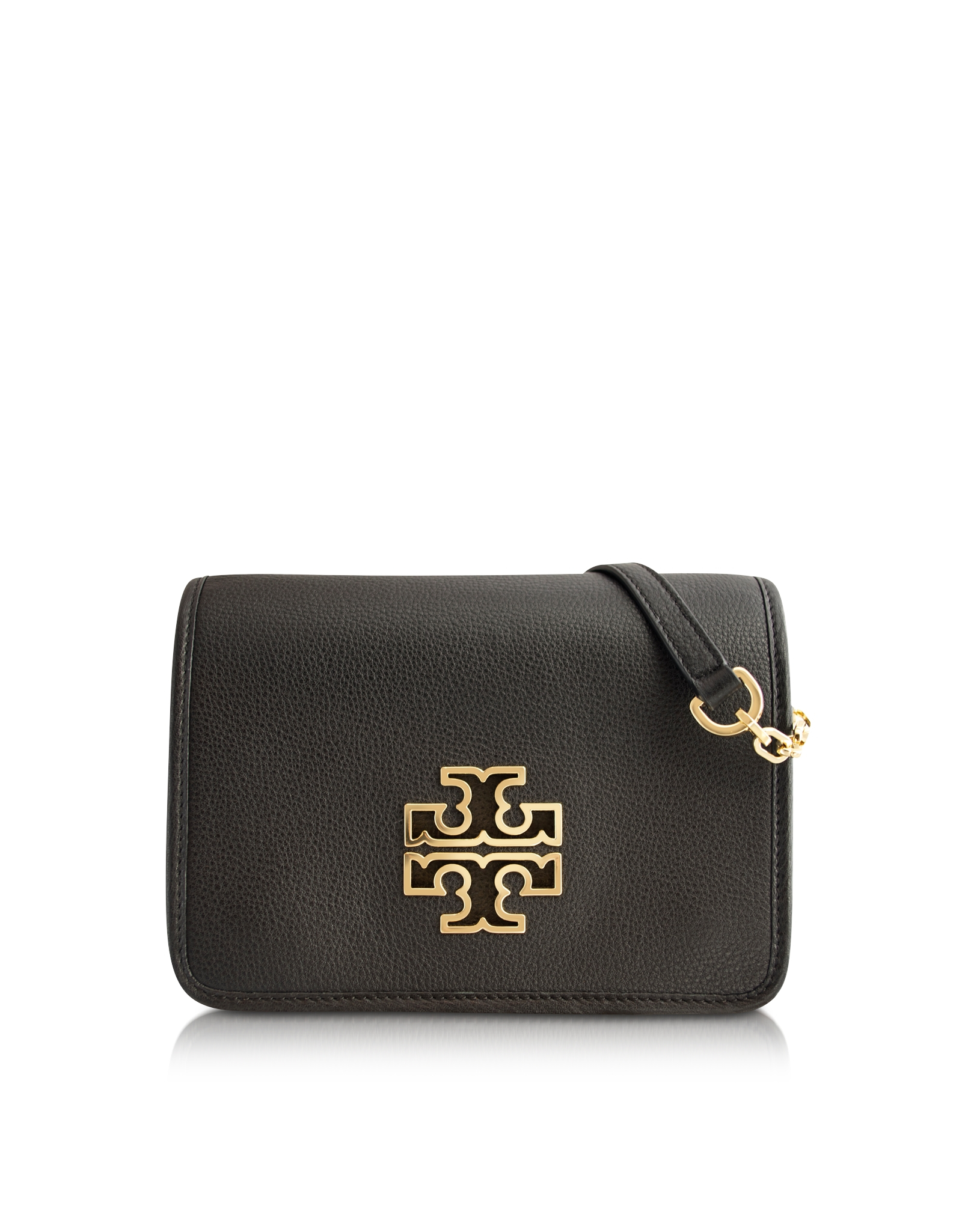 1532fa4cbeee Lyst - Tory Burch Britten Combo Crossbody Bag in Black