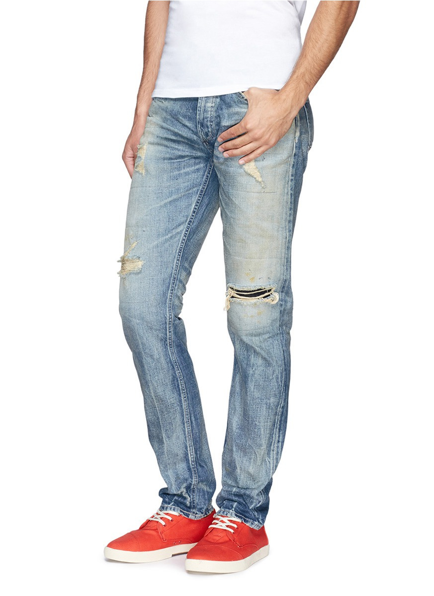 how to make ripped jeans with a razor