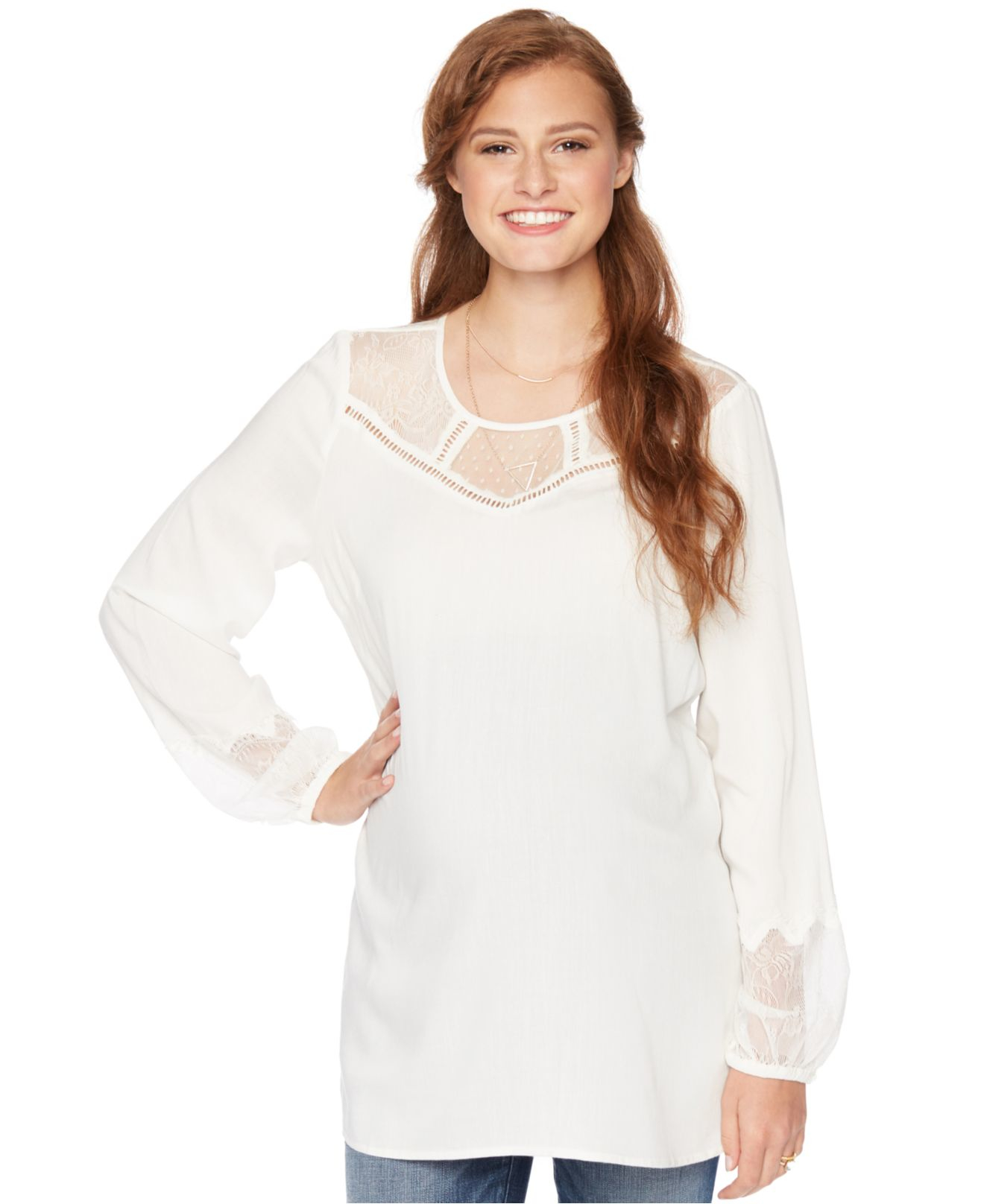 Asos Maternity Blouse With Lace Trim 63