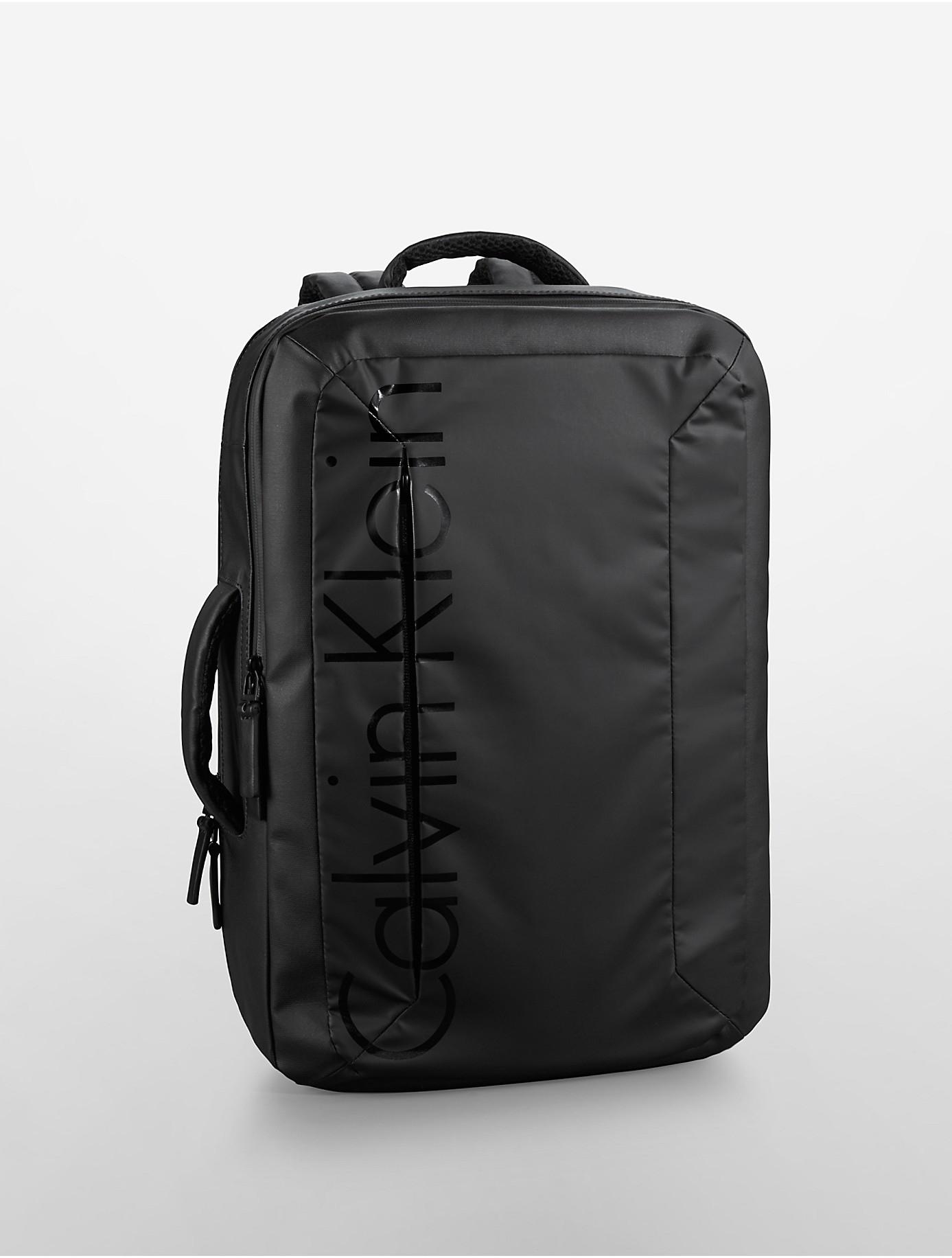 calvin klein jeans logan convertible backpack in black for men lyst. Black Bedroom Furniture Sets. Home Design Ideas