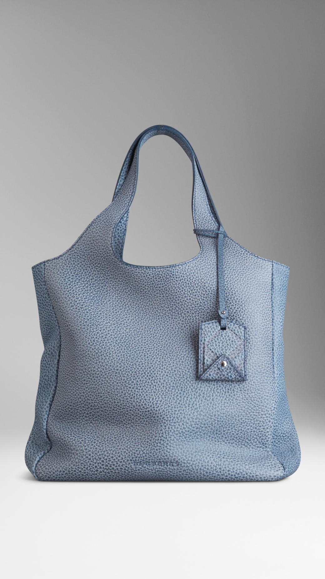 Lyst - Burberry Twotone Grainy Leather Shopper in Blue c707e14f6c04a
