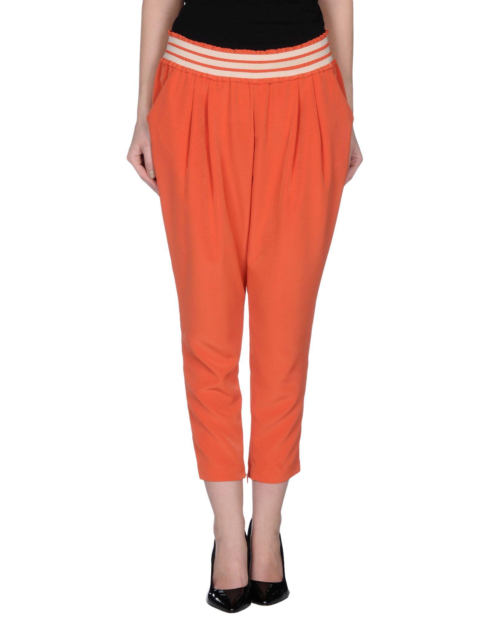 Simple Womens HUGO Dress Pants Orange HUGO Helizia39  Stretch Cotton Blend