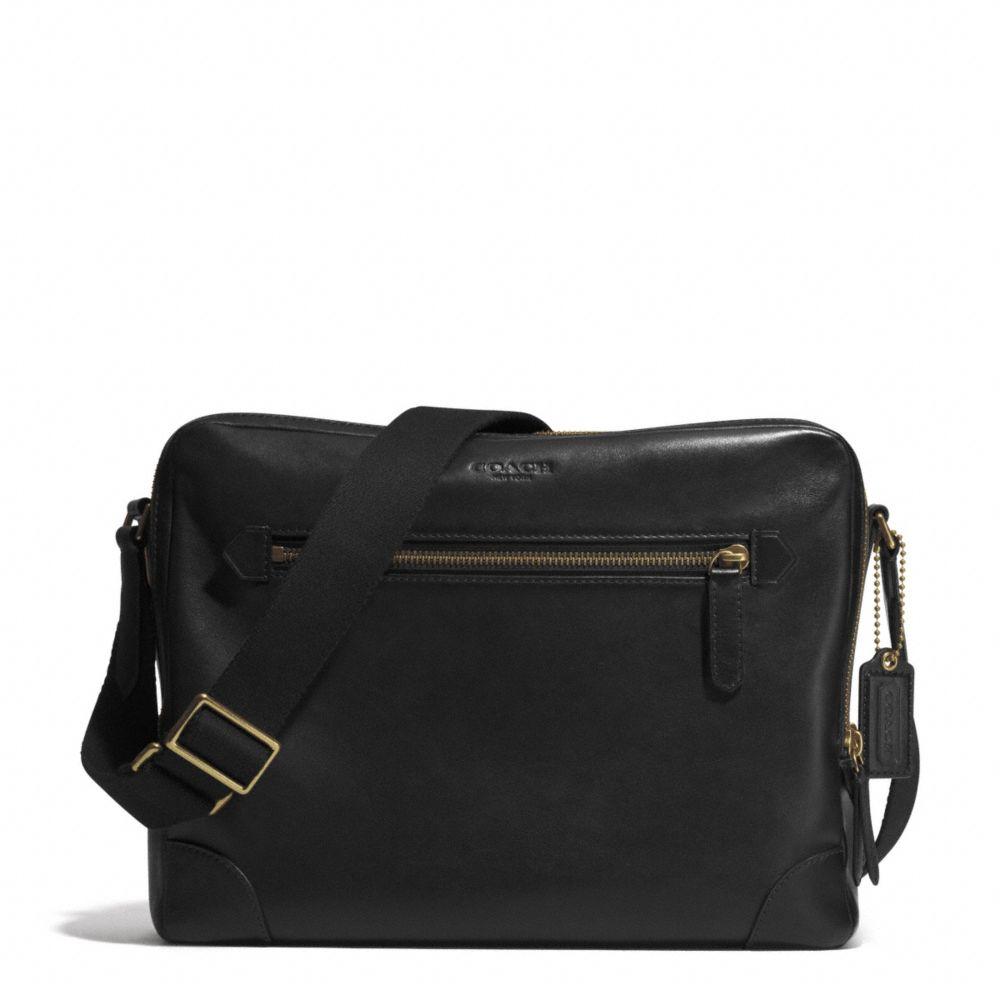 Lyst Coach Bleecker Flight Bag In Leather In Brown For Men