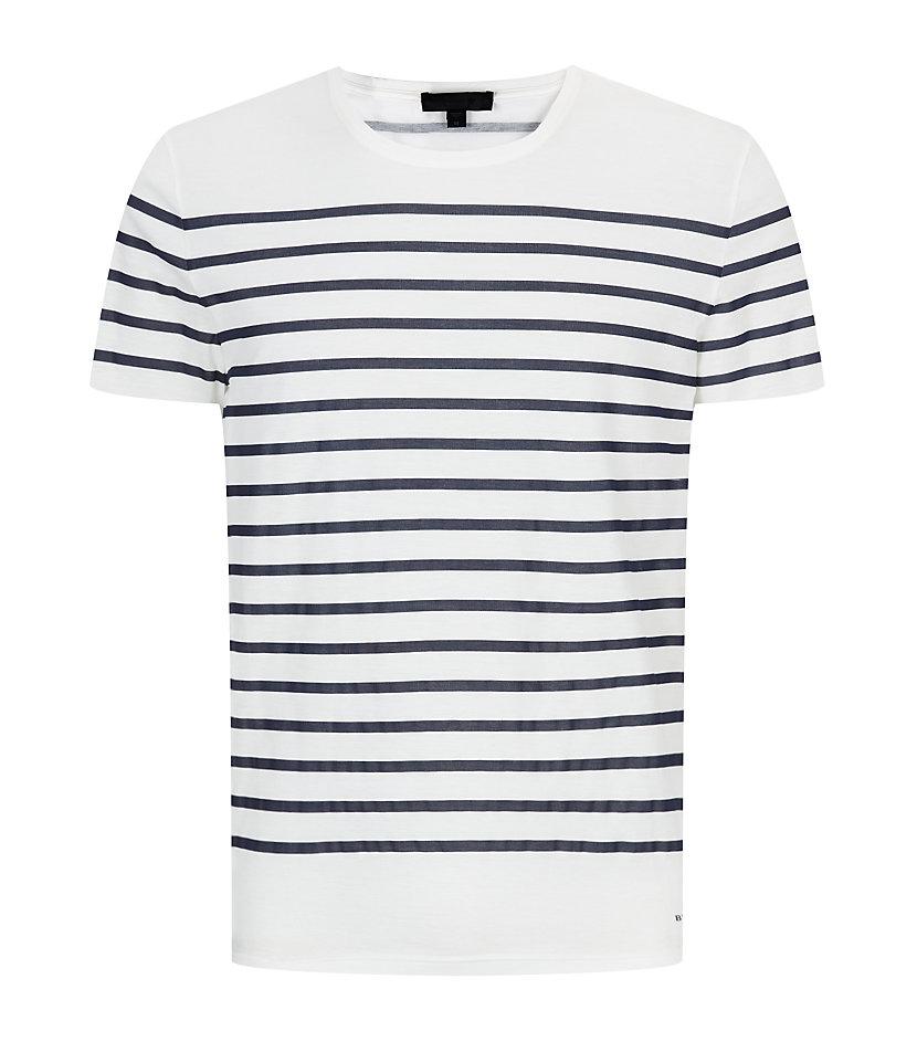 aa0ebe84f3 Burberry Prorsum Breton Stripe Tshirt in White for Men - Lyst